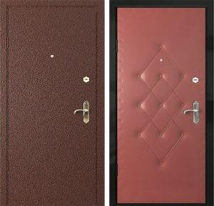 Входная металлическая дверь порошок + винилискожа с рисунком СП005